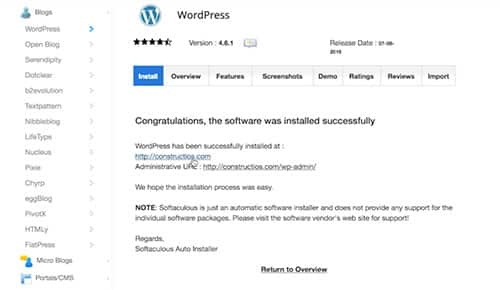 Softaculous WordPress Installer - How To Install WordPress - Prosperily